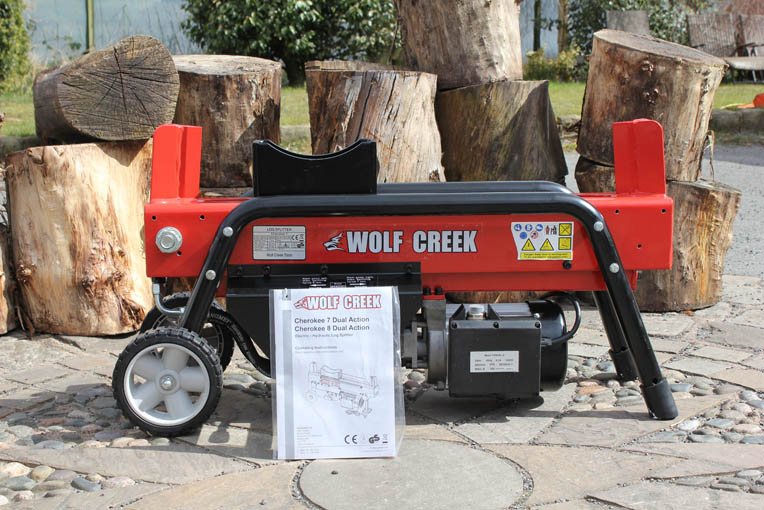 Cherokee 7 Ton Hydraulic Log Splitter Electric Dual Action