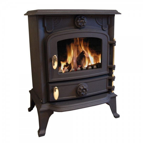 Cast Iron Multifuel Efficient Log Burner Wood Coal Burning
