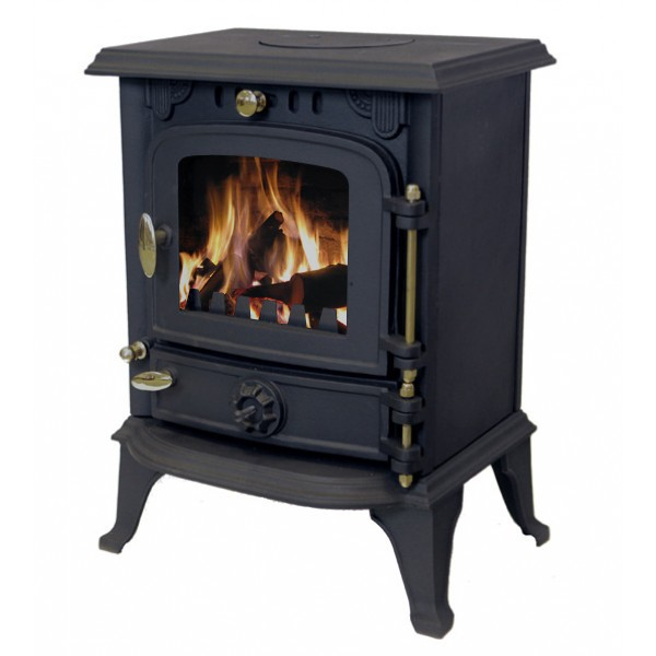 Cast iron multifuel efficient log burner wood coal burning for Small efficient wood stoves